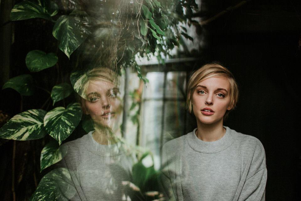 Ein Portrait mit Spiegelung