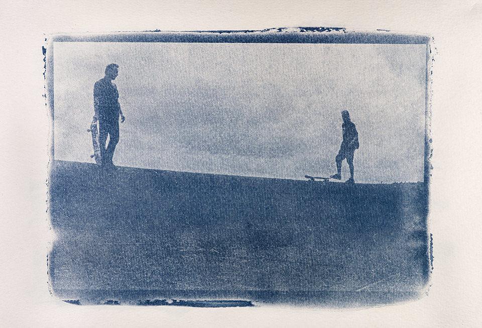 Zwei Skateboarder