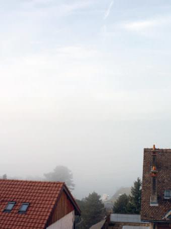 Nebel über Dächern