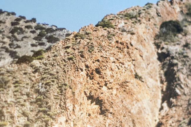Detail einer Berglandschaft.