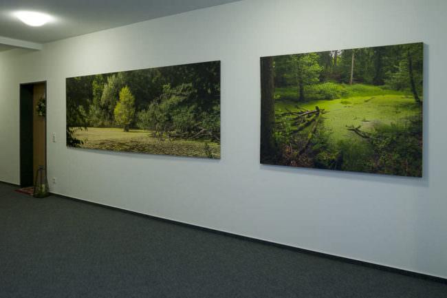 Fotos an einer Wand