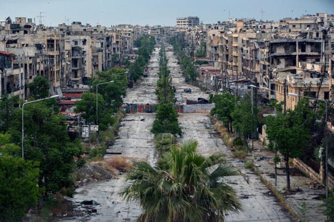 Eine zerstörte Stadt