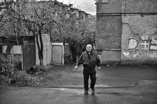Ein Mann auf der Straße