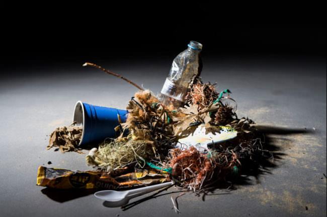 arrangierter Müll