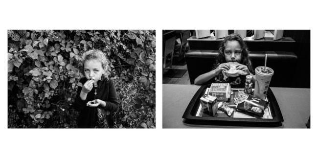 Diptychon zweier Kinderbilder