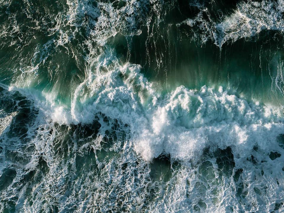 Wellen auf dem Meer