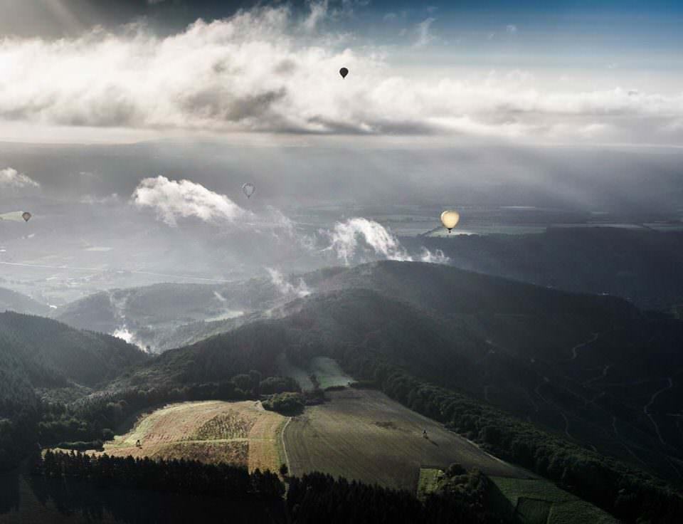 Ballons am Himmel