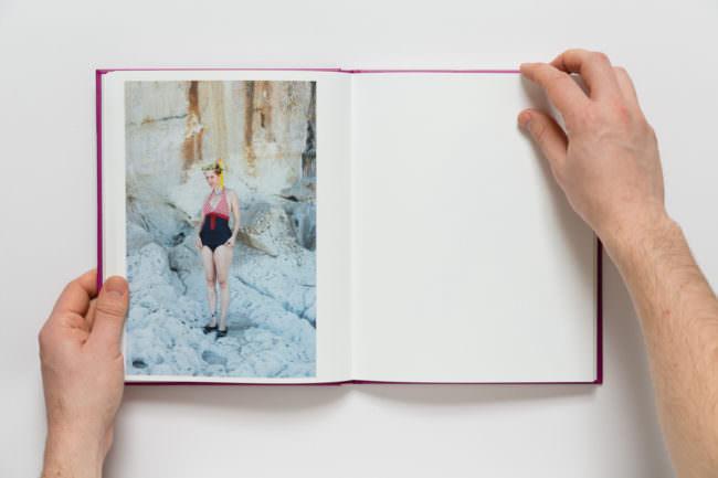 Ansicht eines aufgeschlagenen Fotobuches