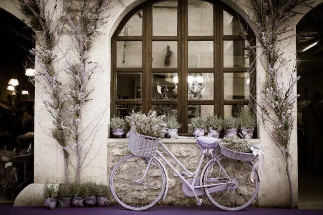 Violettes Fahrrad