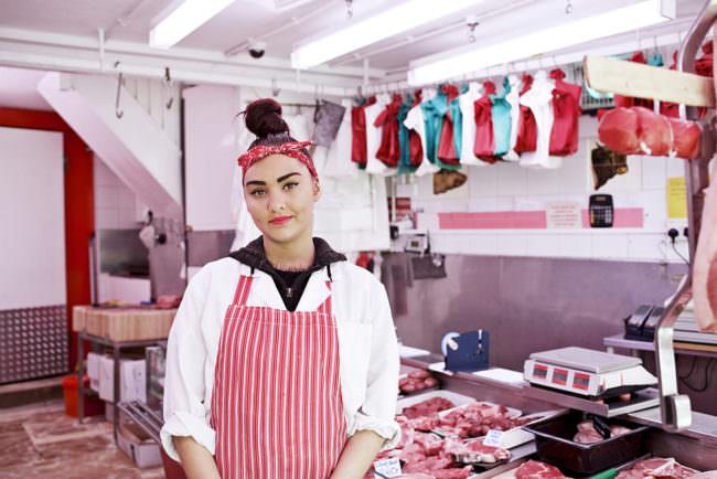 Fleischverkäuferin