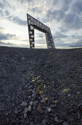 Stahlkonstriktion auf einer Halde