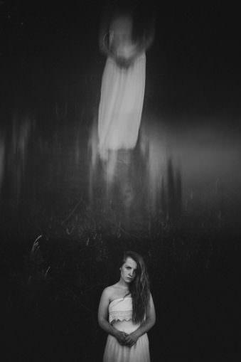 Geisterbild einer Frau