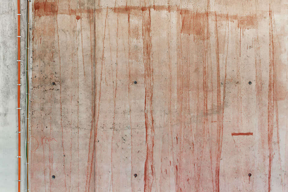 Mauer mit Farbe