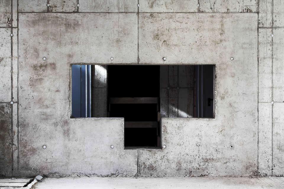 Fenster in einer Baustelle