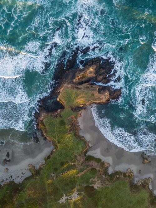 Küste von oben