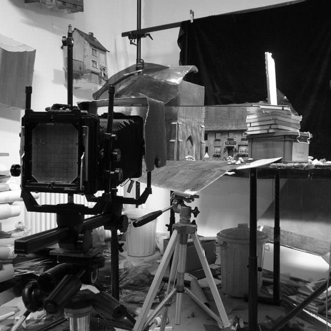 Kamera vor einem Modell