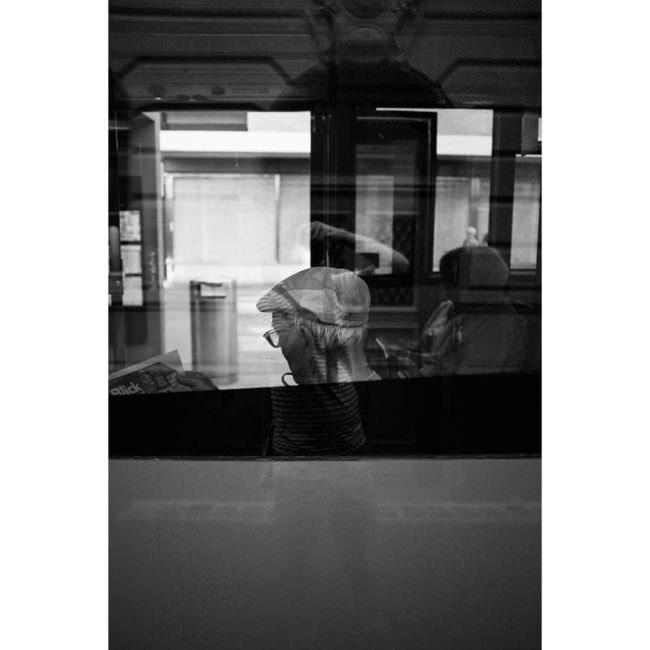 Busfensterreflexion