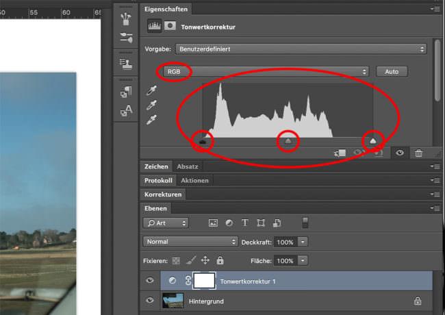 Ansicht einer Bildschirmoberfläche innerhalb eines Programmes.