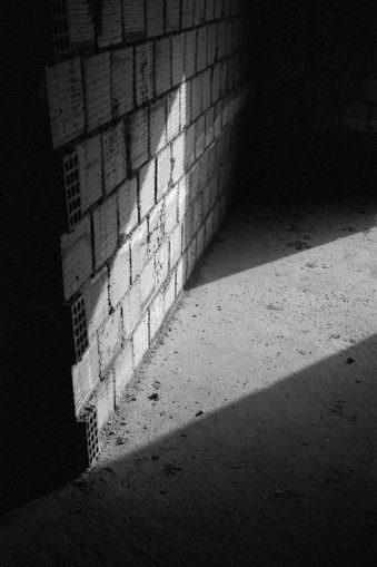 Lichtfleck auf Beton