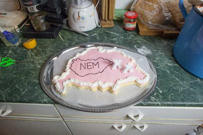 Kuchen mit unklaren Kanten.