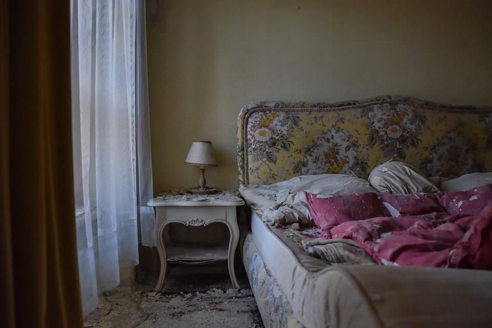 Verlassenes Schlafzimmer