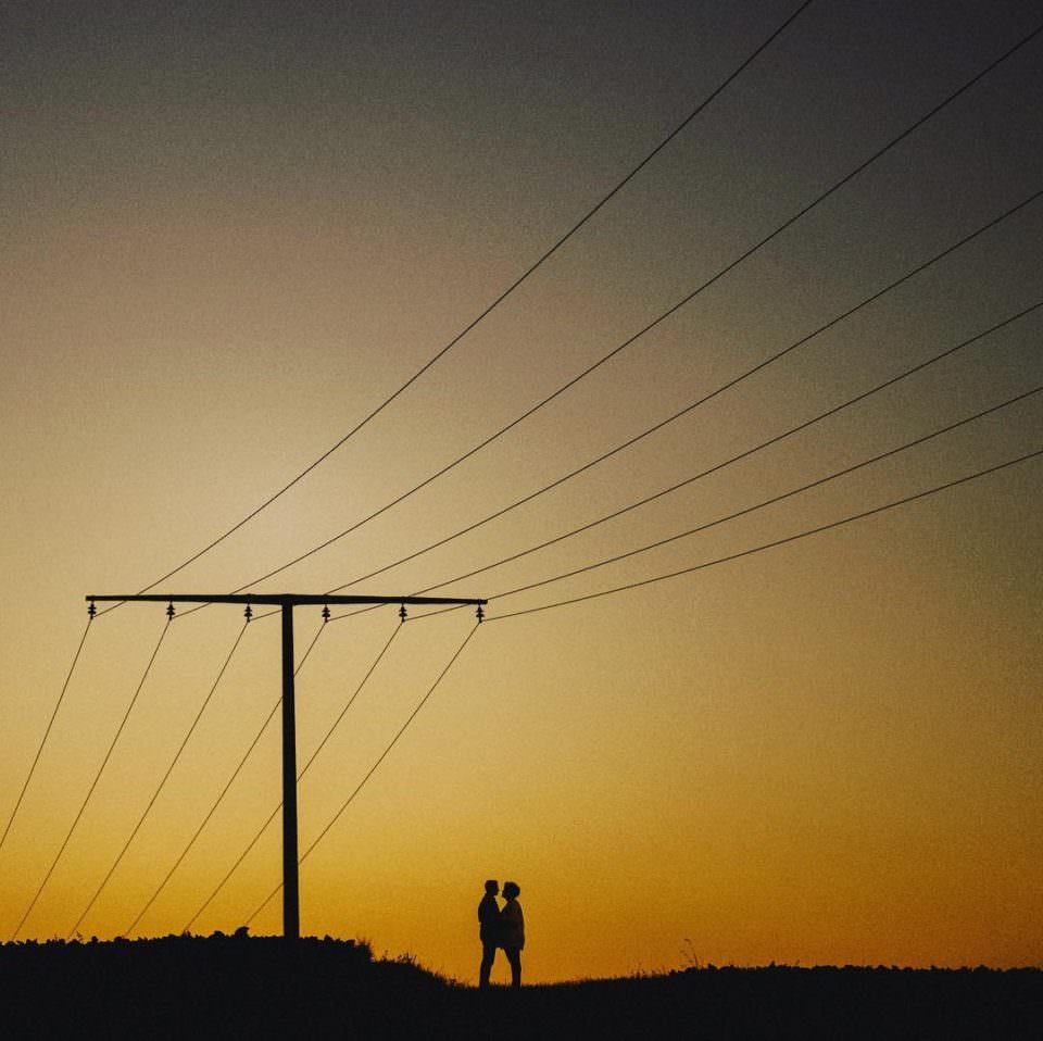 zwei Liebende im Sonnenuntergang
