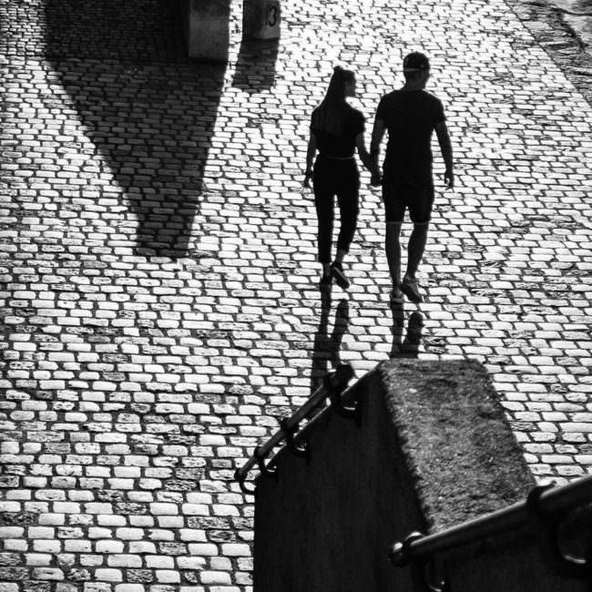 Straßenszene zweier Liebender