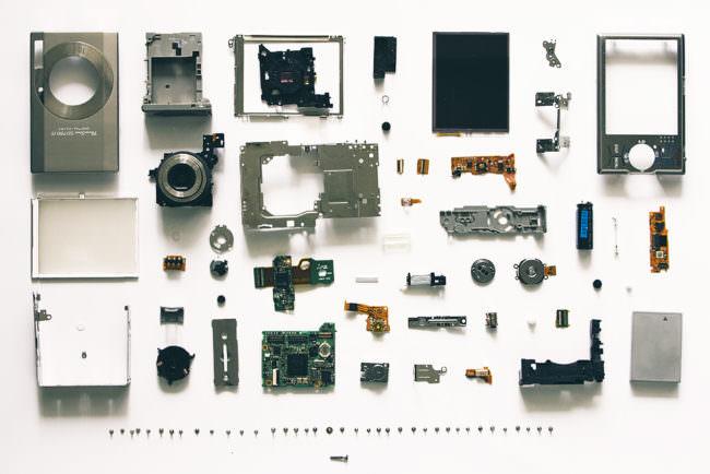 Digitalkompaktkamera Einzelteile