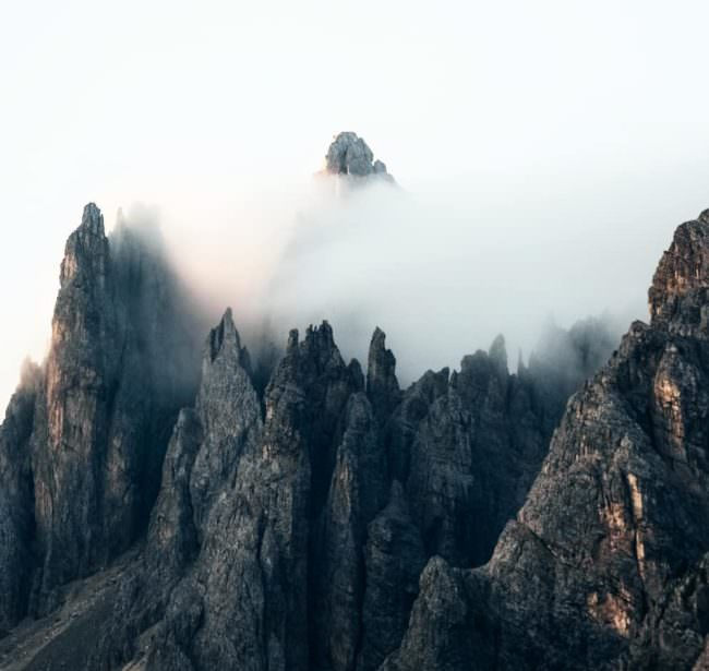 Steile Klippen