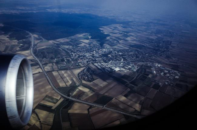 Blick auf die Erde von oben.