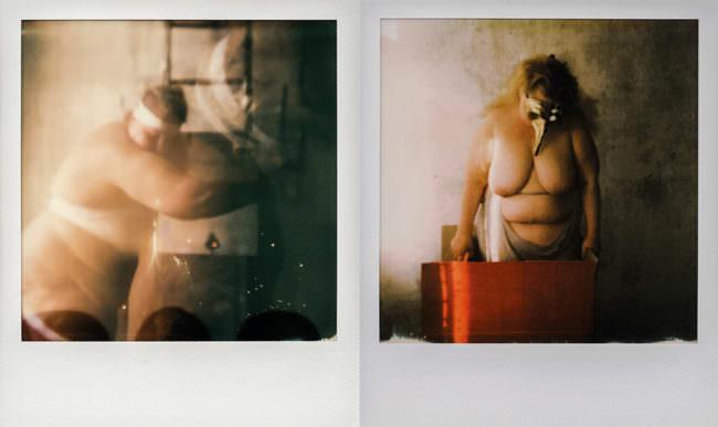 Polaroids von nackten Menschen