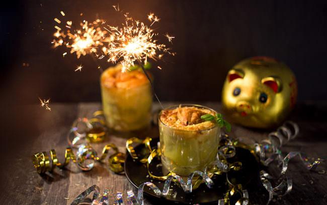 Foodfoto mit Wunderkerzen