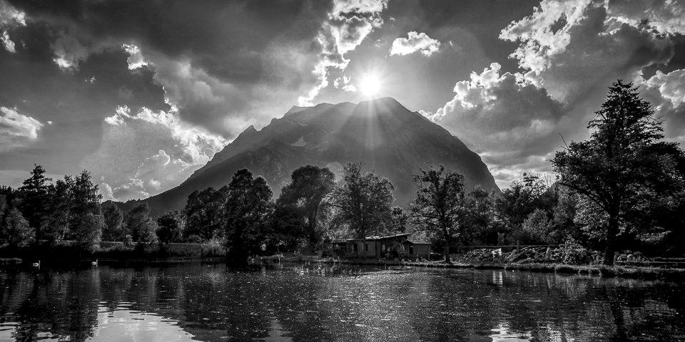 Bergfotografie in schwarzweiß