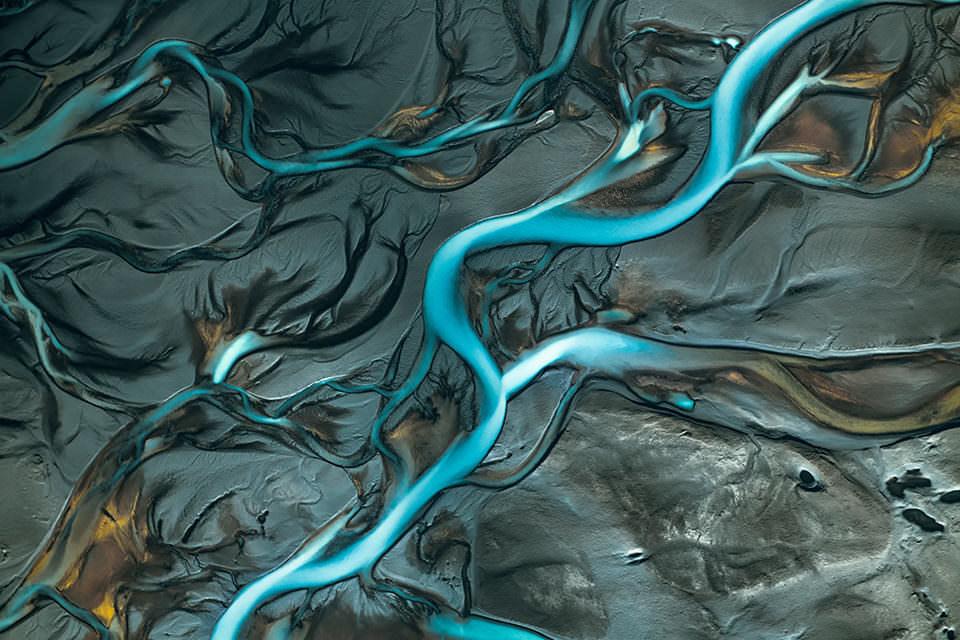Wasserlauf von oben