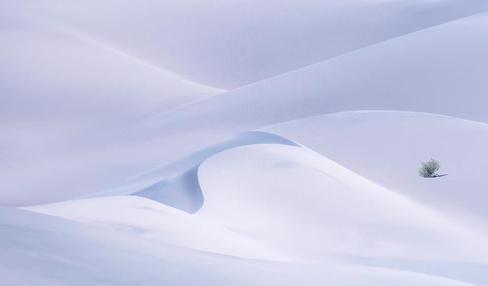 Minimalistische Schneelandschaft