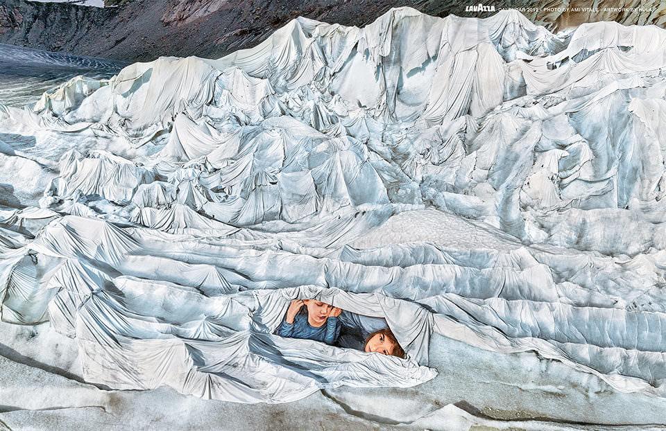 Gletscher mit Gemälde