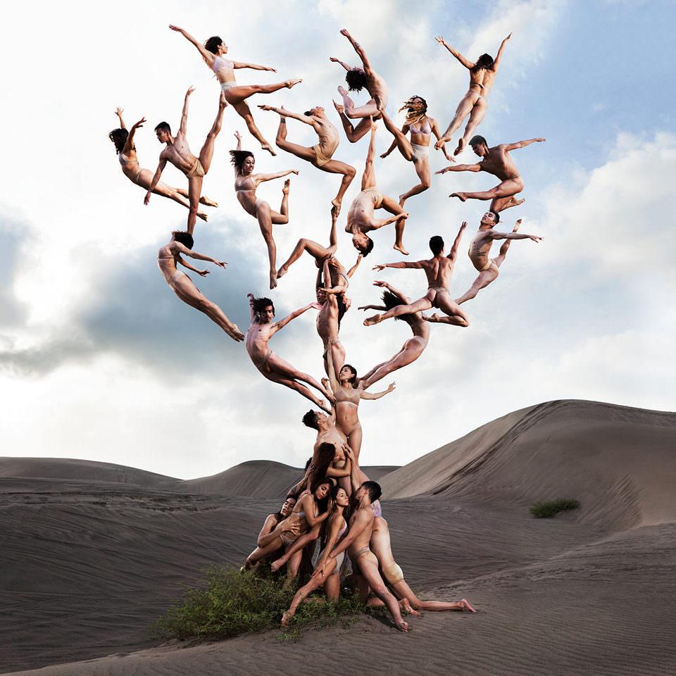 Ein Baum gebildet aus Menschen