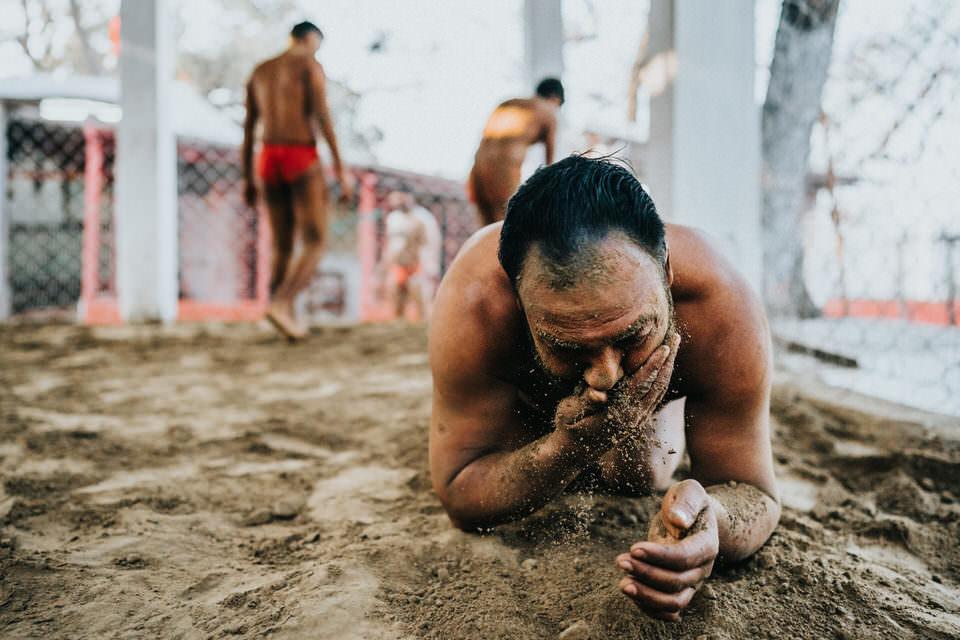 Ringer im Sand