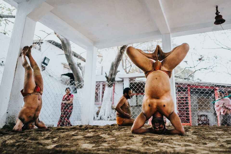 Ringer machen Yoga