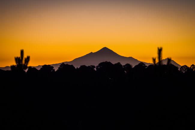 Berg in Sonnenuntergang