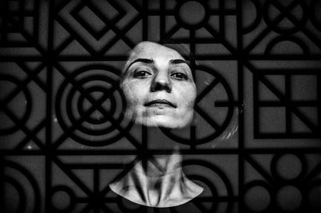 Portrait mit Muster