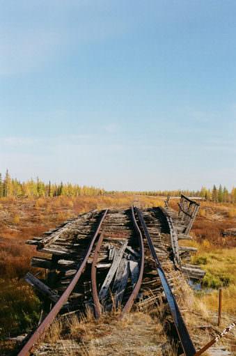 Kaputte Eisenbahngleise