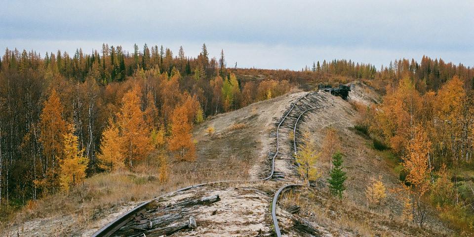 Karte einer Eisenbahnstrecke