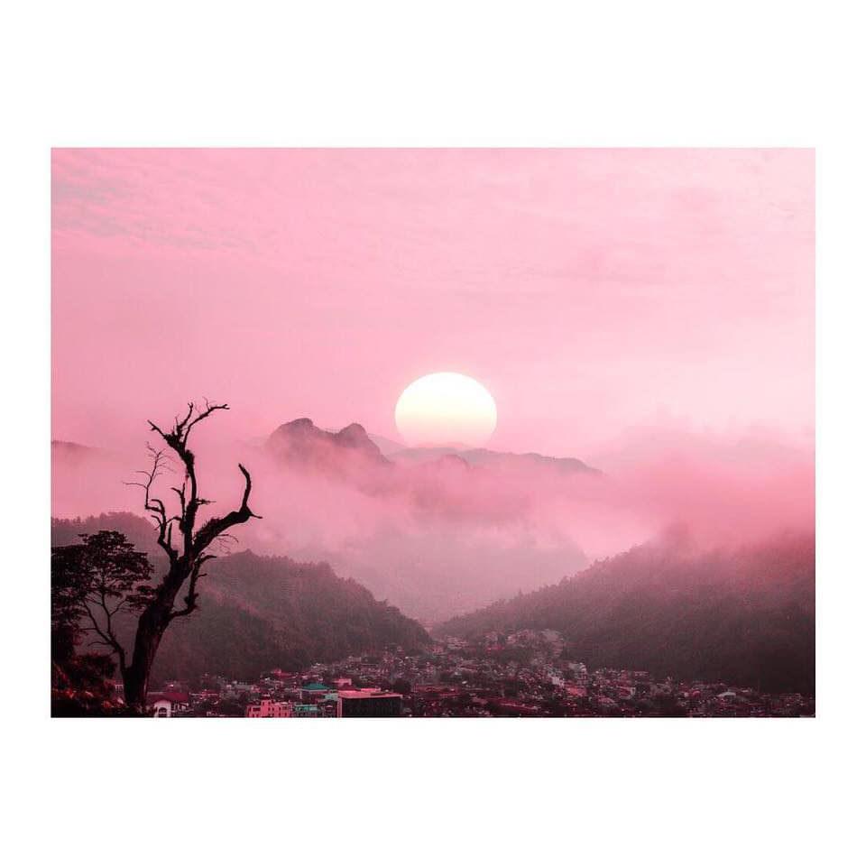 rosa Sonnenuntergang