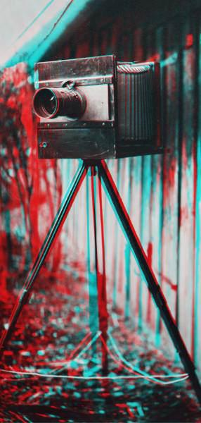 3D-Aufnahme einer alten Kamera