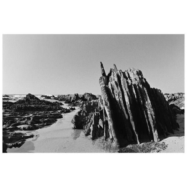 Steingebilde am Strand