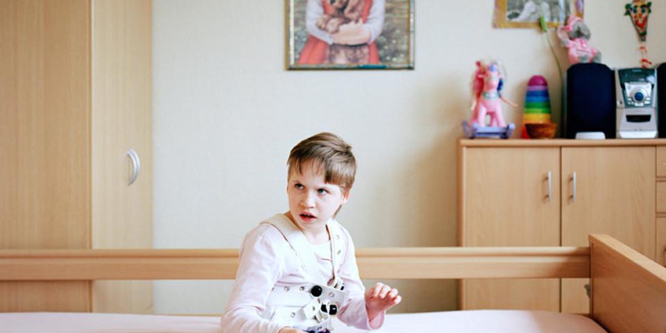 Kind in einem Bett