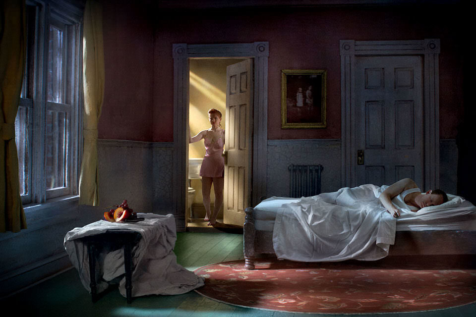 Szene im Schlafzimmer