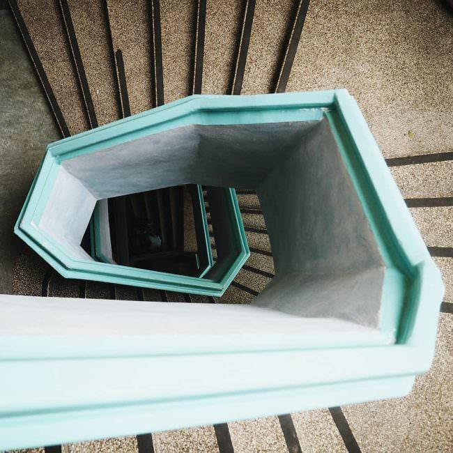 Treppe nach unten fotografiert