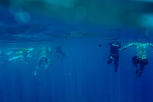 Beine Unterwasser